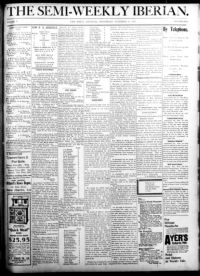 About The weekly Iberian  (New Iberia, La ) 1894-1946