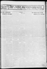 Thumbnail for the Dec. 2, 1902 edition of the The Inter-Mountain Farmer