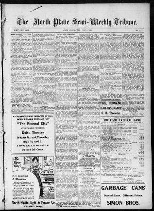 The North Platte Semi Weekly Tribune North Platte Neb 1895 1922