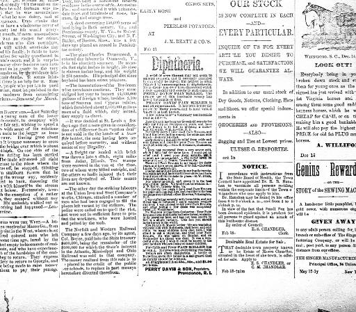 The Fairfield News And Herald Winnsboro Sc 1881 1900 March 08