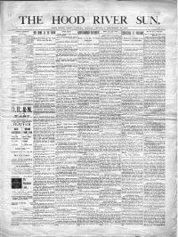Thumbnail for the Sept. 28, 1899 edition of the The Hood River Sun