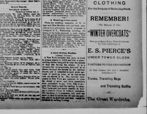 Grand Rapids morning telegram  (Grand Rapids, Mich ) 188?-18