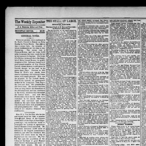 Weekly expositor  (Brockway Centre, Mich ) 1882-1894, April