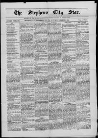 Thumbnail for the Aug. 6, 1881 edition of the Stephens City Star