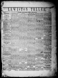 Thumbnail for the Apr. 13, 1878 edition of the Lewiston Teller