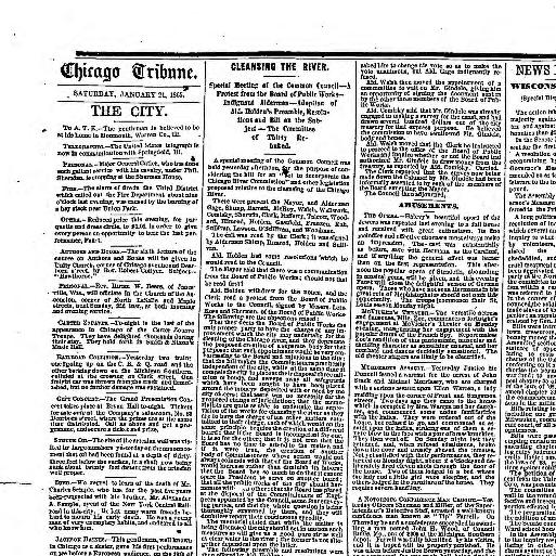 Chicago tribune  (Chicago, Ill ) 1864-1872, January 21, 1865, Image