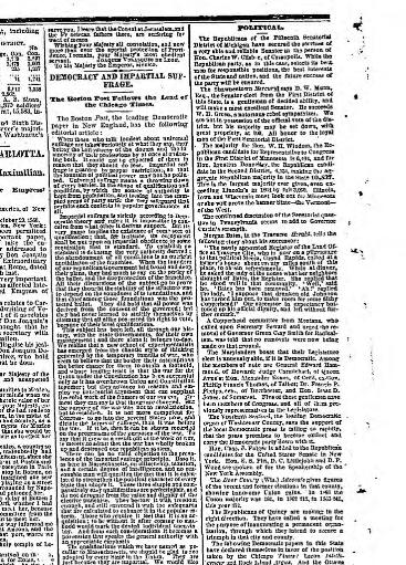 Chicago Tribune Chicago Ill 1864 1872 November 22 1866 Image