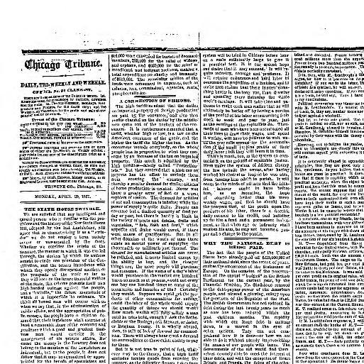 Chicago tribune  (Chicago, Ill ) 1864-1872, April 29, 1867