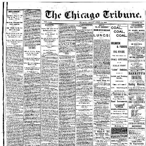 Chicago tribune. (Chicago, Ill.) 1864-1872, April 24, 1868, Image 1 ...