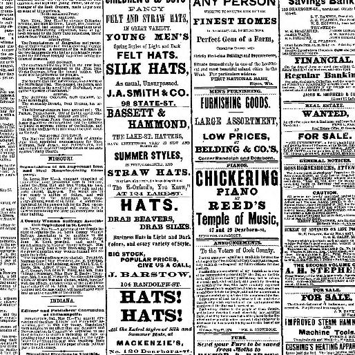 Chicago Tribune Chicago Ill 1864 1872 May 28 1870 Image 1