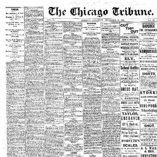 7b2e03ce9d4 Chicago tribune. (Chicago