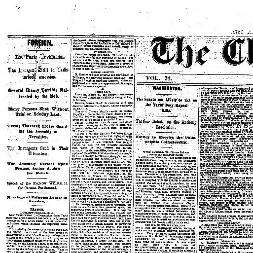 Chicago Tribune Chicago Ill 1864 1872 March 22 1871 Image 1
