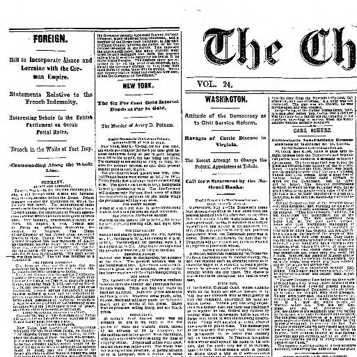 e50239524 Chicago tribune. (Chicago, Ill.) 1864-1872, May 03, 1871, Image 1 «  Chronicling America « Library of Congress