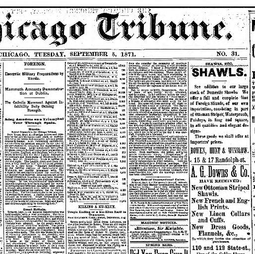 Chicago Tribune Chicago Ill 1864 1872 September 05 1871