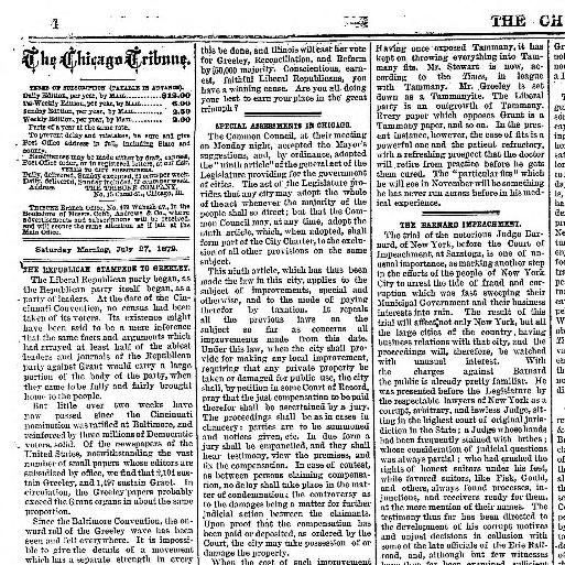Chicago Tribune Chicago Ill 1864 1872 July 27 1872 Page 4