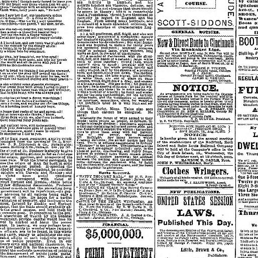 Chicago Tribune Chicago Ill 1864 1872 September 05 1872 Page