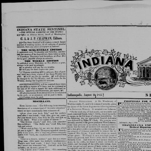Indiana State sentinel  (Indianapolis [Ind ]) 1845-1851, August 16