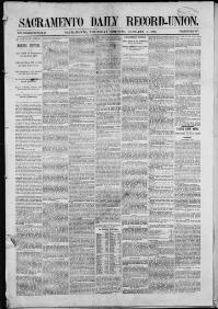 Thumbnail for the Jan. 1, 1880 edition of the Sacramento Daily Record-Union