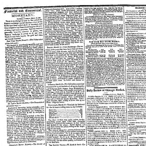 The Press And Tribune Chicago Ill 1859 1860 March 19 1860