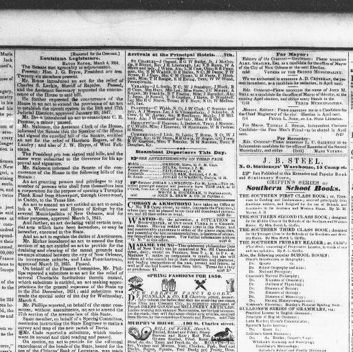 The Daily Crescent New Orleans La 1848 1851 March 08 1850