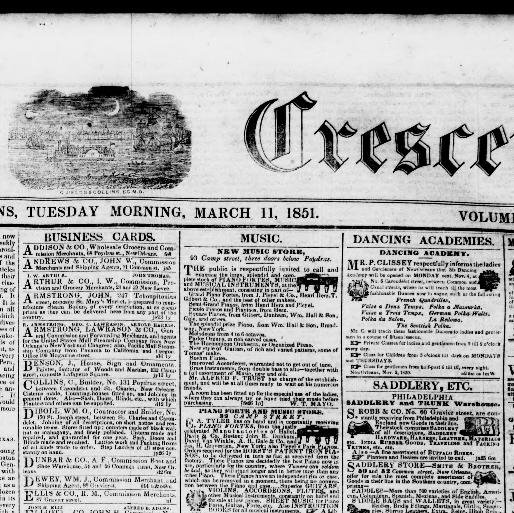 The daily crescent new orleans la 1848 1851 march 11 1851 new orleans la 1848 1851 march 11 1851 morning image 1 chronicling america library of congress reheart Gallery
