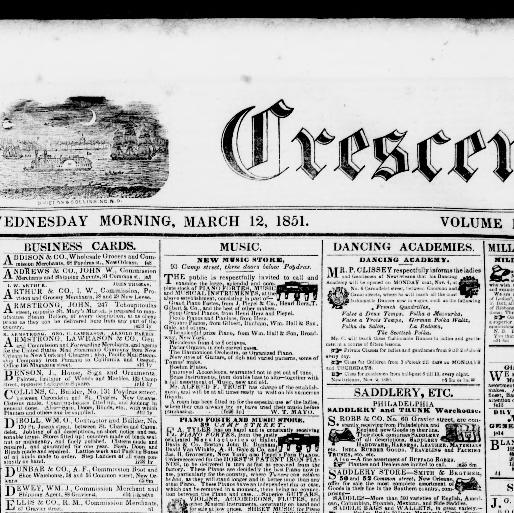 The daily crescent new orleans la 1848 1851 march 12 1851 new orleans la 1848 1851 march 12 1851 morning image 1 chronicling america library of congress reheart Gallery
