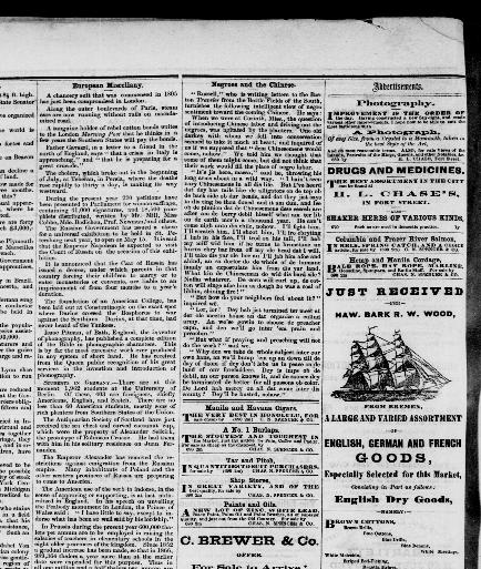 The Pacific Commercial Advertiser Honolulu Hawaiian Islands 1856 1888 September 25 1869 Image 4 Chronicling America Library Of Congress
