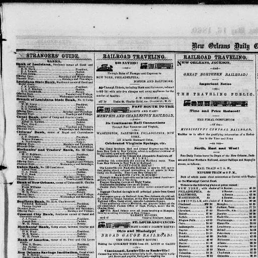 New Orleans daily crescent  ([New Orleans, La ]) 1851-1866, May 16