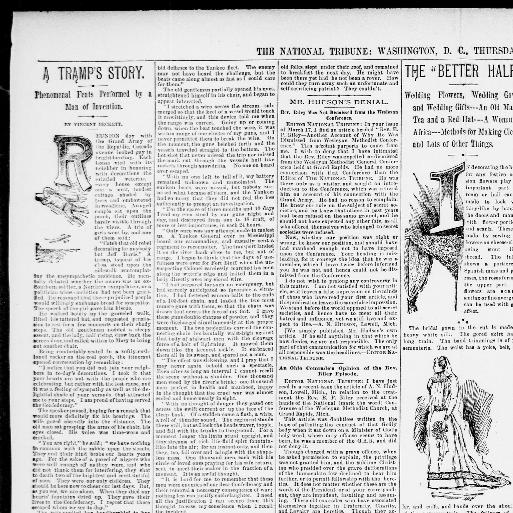 The National Tribune Washington Dc 1877 1917 April 14 1892