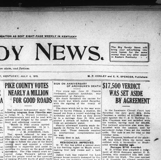 The Big Sandy news  (Louisa, Ky ) 1885-1929, July 04, 1919