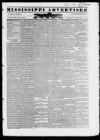 Thumbnail for the Feb. 1, 1845 edition of the Mississippi Advertiser