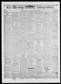 Thumbnail for the Mar.18, 1848 edition of the The Weekly Independent