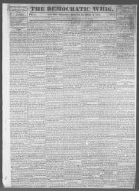 Thumbnail for the Nov. 17, 1842 edition of the The Democratic Whig