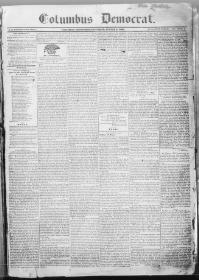 Thumbnail for the Aug. 6, 1836 edition of the Columbus Democrat
