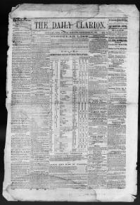Thumbnail for the Sept.27, 1863 edition of the The Daily Clarion