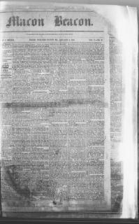 Thumbnail for the Jan. 4, 1860 edition of the Macon Beacon