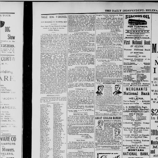 The Helena independent  (Helena, Mont ) 1875-1943, August 22, 1889