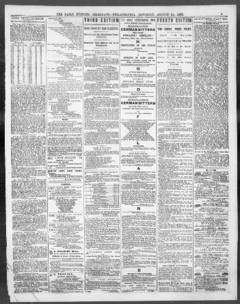 The evening telegraph  (Philadelphia [Pa ]) 1864-1918
