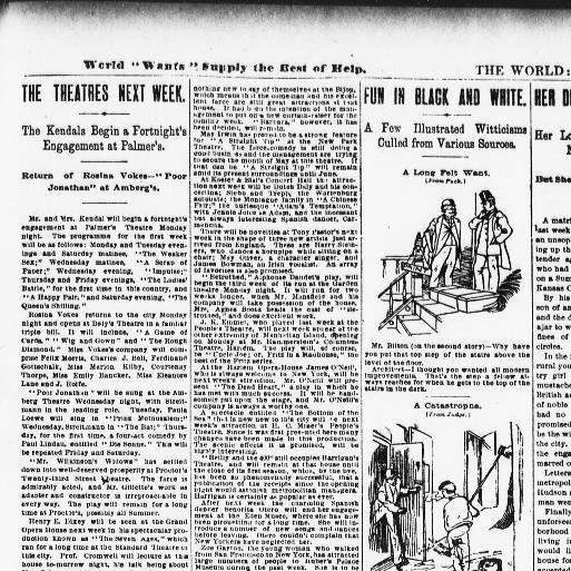 The Evening World New York N Y 1887 1931 April 11 1891 Last Edition Page 3 Image Chronicling America Library Of Congress