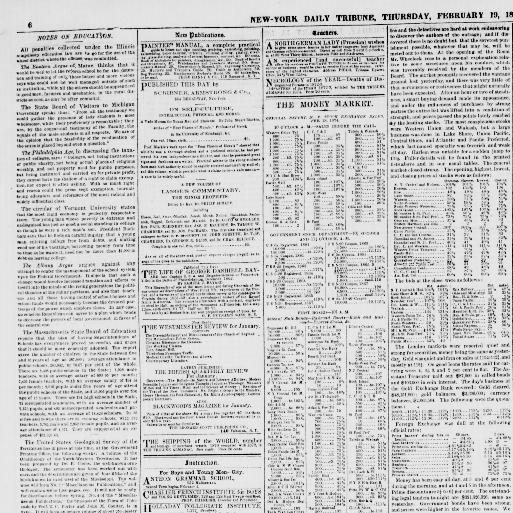 New York Tribune New York Ny 1866 1924 February 19 1874