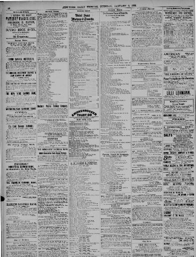 New York Tribune New York Ny 1866 1924 January 03 1899