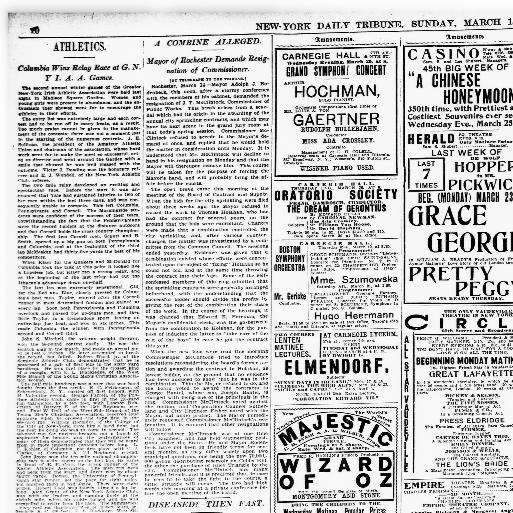 New York Tribune New York N Y 1866 1924 March 15 1903 Page