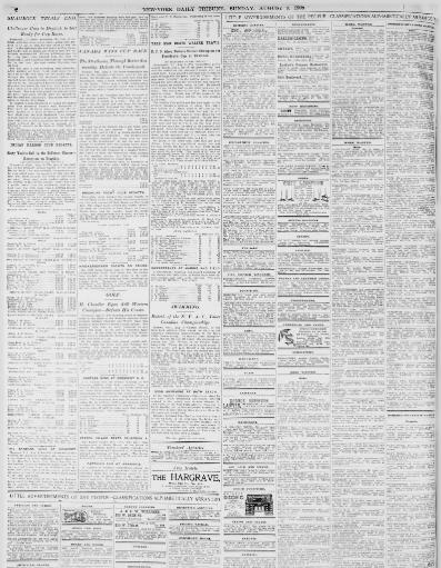New York Tribune August 09 1903 Page 8 Image About NY 1866 1924