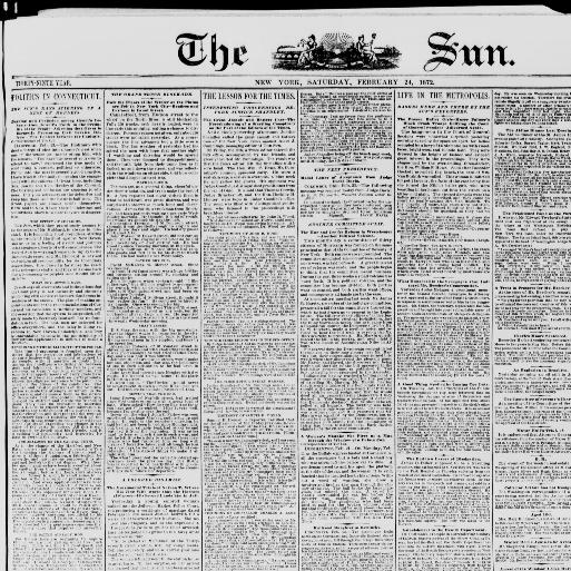 The sun  (New York [N Y ]) 1833-1916, February 24, 1872