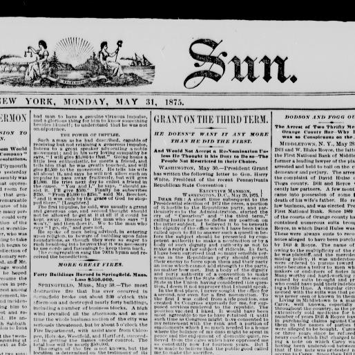 The sun  (New York [N Y ]) 1833-1916, May 31, 1875, Image 1