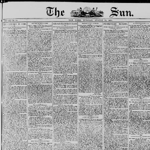 The sun  (New York [N Y ]) 1833-1916, August 31, 1875, Image