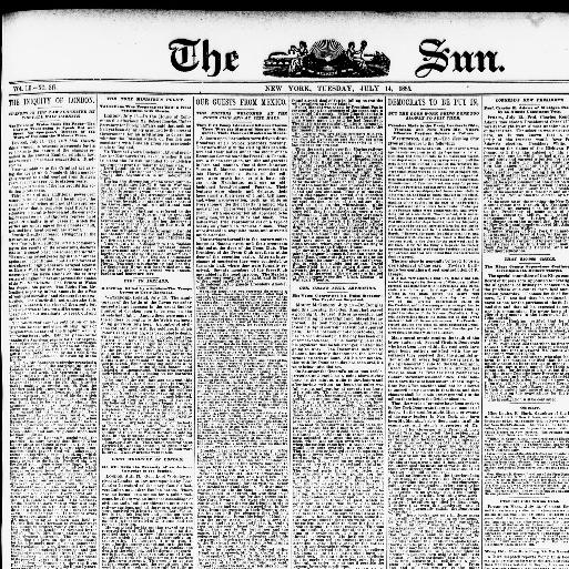 The sun  (New York [N Y ]) 1833-1916, July 14, 1885, Image 1
