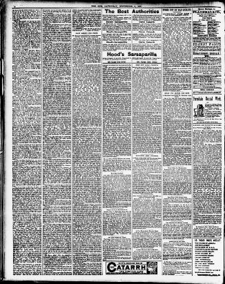 The Sun November 08 1890 Page 2 Image About New York NY 1833 1916