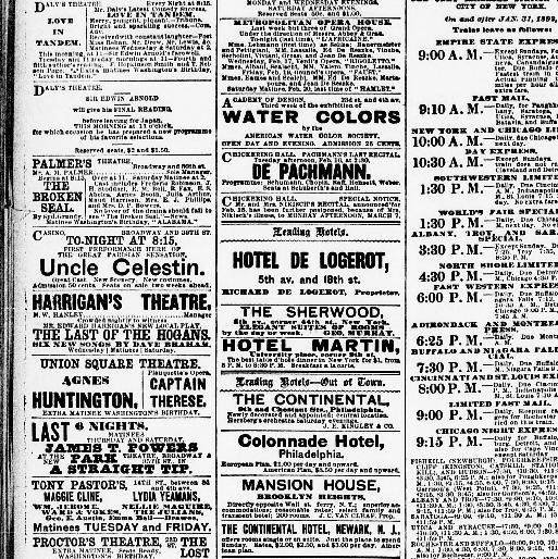 the sun new york n y 1833 1916 february 15 1892 page 10 Dance Choreographer Resume all issues text pdf jp2 4 mb