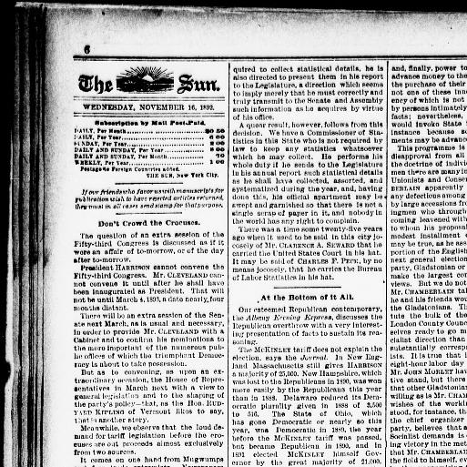 The sun  (New York [N Y ]) 1833-1916, November 16, 1892, Page 6